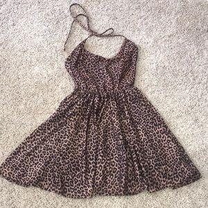 American apparel cheetah halter dress!